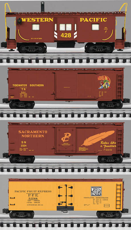 WP scale freight car 4-pack