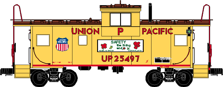 UP Safety Caboose drawing