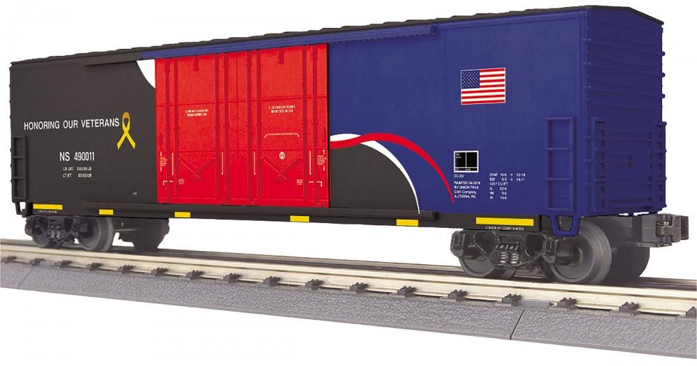 "Norfolk Southern ""Honoring Veterans"" 50' double plug door boxcar"
