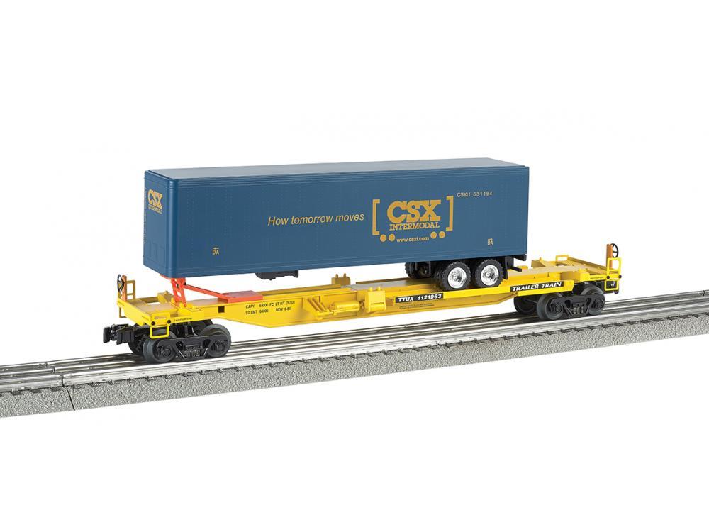 Trailer Train front runner with CSX trailer